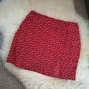 SHEIN red skirt size XS